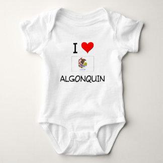 I Love ALGONQUIN Illinois T Shirts