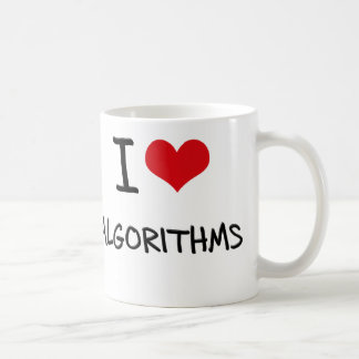I Love Algorithms Coffee Mug
