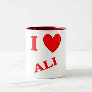 I Love Ali Two-Tone Coffee Mug