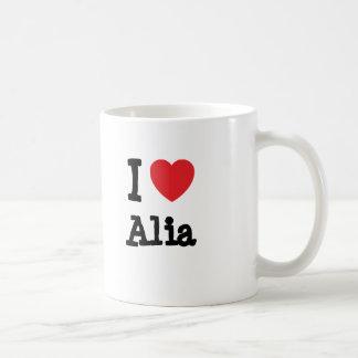 I love Alia heart T-Shirt Classic White Coffee Mug