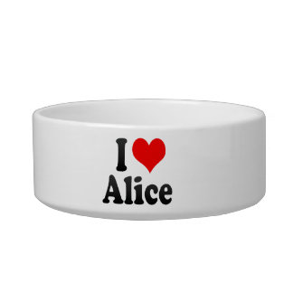 I love Alice Pet Water Bowls