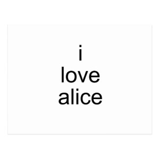 I Love Alice Postcard