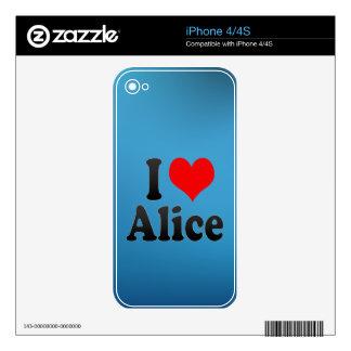 I love Alice Skin For iPhone 4