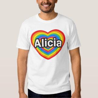 I love Alicia. I love you Alicia. Heart T Shirt
