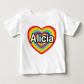 I love Alicia, rainbow heart T-shirt