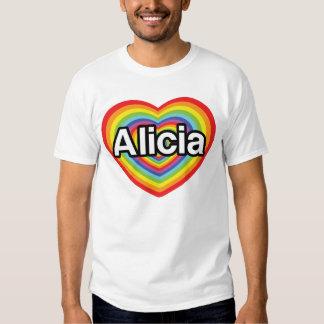 I love Alicia, rainbow heart T Shirt