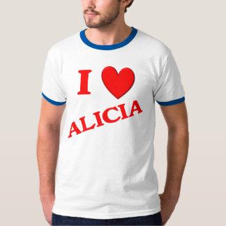 I Love Alicia Tee Shirt