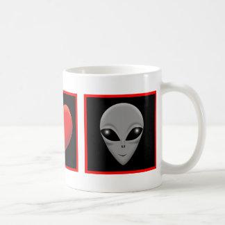 I LOVE ALIENS COFFEE MUG