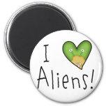 I Love Aliens Fridge Magnets