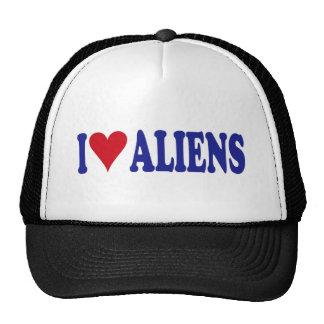 I Love Aliens Hat