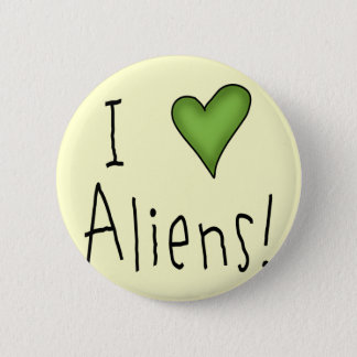 I Love Aliens II Button