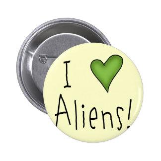 I Love Aliens II Button