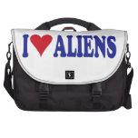 I Love Aliens Laptop Computer Bag