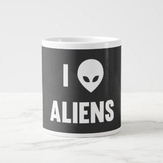 I Love Aliens Large Coffee Mug