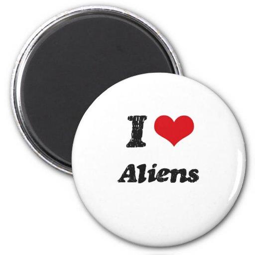 I Love Aliens Magnets
