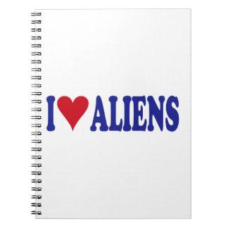 I Love Aliens Notebook