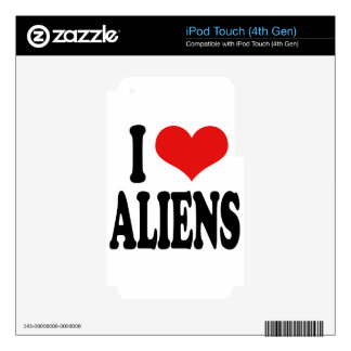 I Love Aliens Skin For iPod Touch 4G