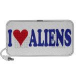 I Love Aliens Travelling Speakers