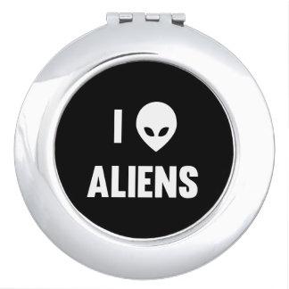 I Love Aliens Vanity Mirror