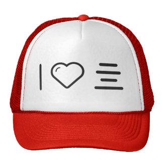 I Love Aligning Text Trucker Hat