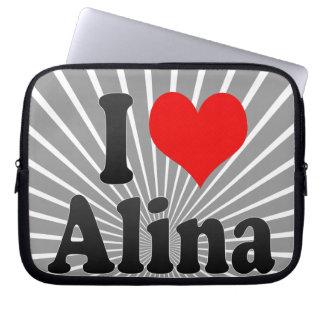 I love Alina Laptop Computer Sleeve