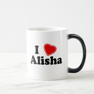 I Love Alisha Magic Mug
