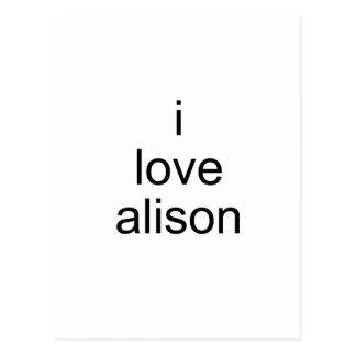 I love Alison Postcard