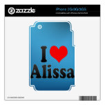 I love Alissa Skin For iPhone 2G