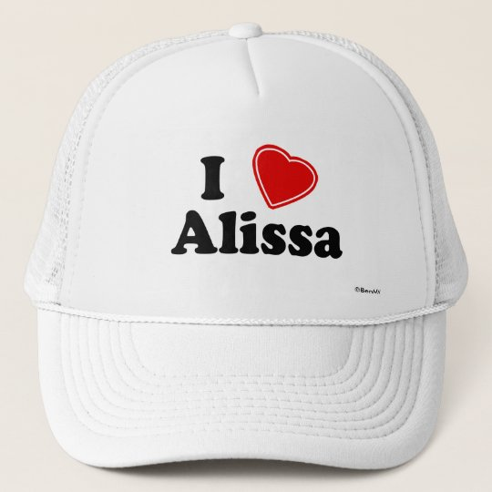 I Love Alissa Trucker Hat