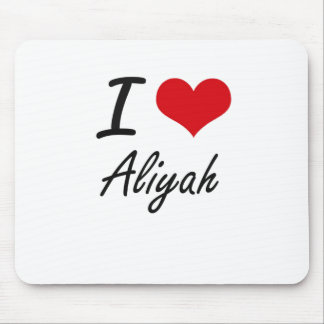 I Love Aliyah artistic design Mouse Pad
