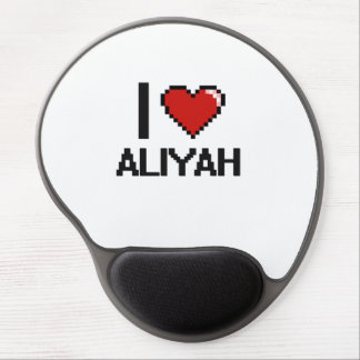 I Love Aliyah Digital Retro Design Gel Mouse Pad