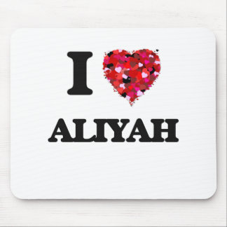 I Love Aliyah Mouse Pad