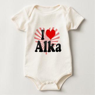 I love Alka Baby Bodysuit