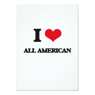 """I Love All-American 5"""" X 7"""" Invitation Card"""