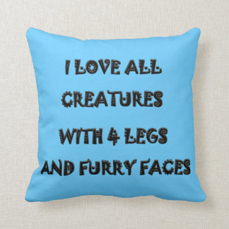 I LOVE ALL CREATURES American MoJo Pillow