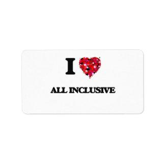 I Love All Inclusive Address Label