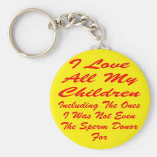 I Love All My Children Even The Ones I Was Not Keychain
