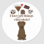 I love all things chocolate!  Fun Stickers