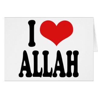 I Love Allah Cards