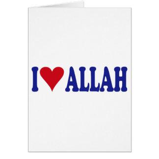 I Love Allah Card