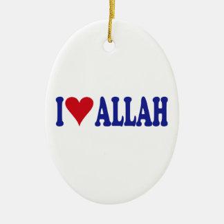 I Love Allah Ceramic Ornament