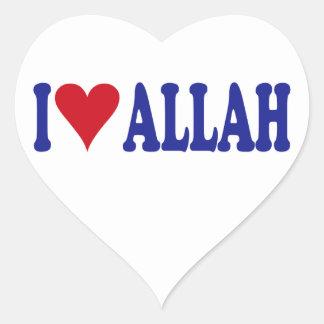 I Love Allah Heart Sticker