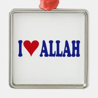 I Love Allah Metal Ornament