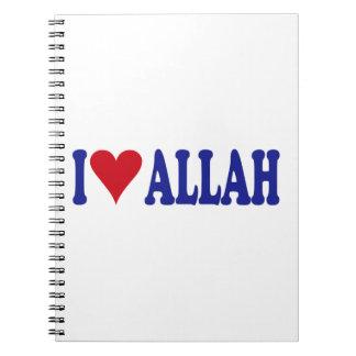 I Love Allah Spiral Notebook