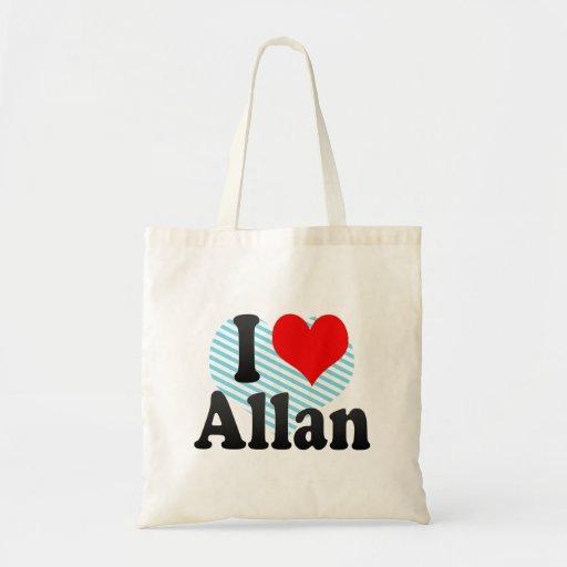 I love Allan Tote Bag