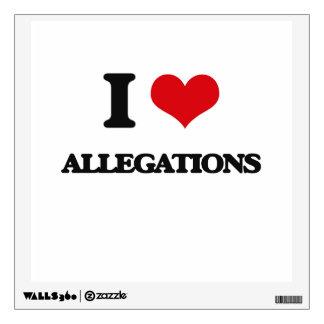 I Love Allegations Wall Sticker