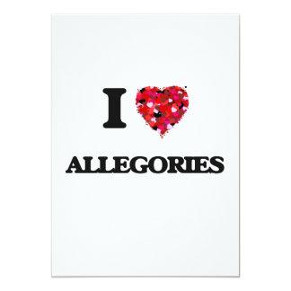 I Love Allegories 5x7 Paper Invitation Card