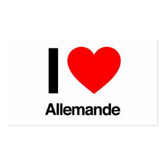 i love allemande business cards