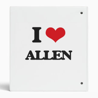 I Love Allen Vinyl Binders