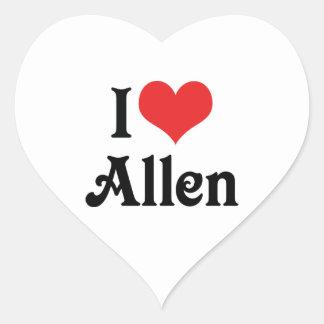 I Love Allen Heart Sticker